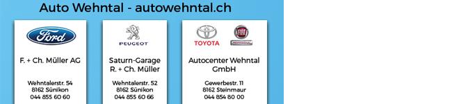 Auto Wehntal - Ihre 1. Anlaufstelle für Ford, Peugeot und Toyota in Sünikon und Steinmaur